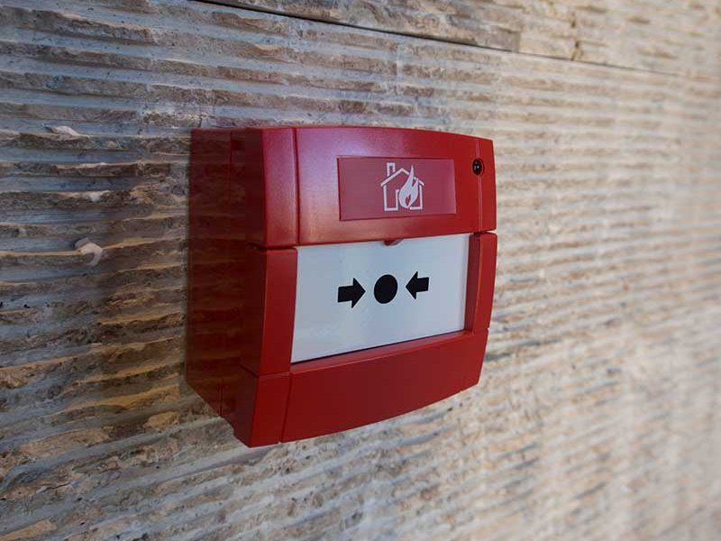 red fire alarm box