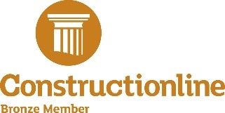 Construction line bronze member logo
